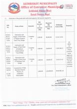 nvitation for Bids for the Construction of different infrastructure of Municipality